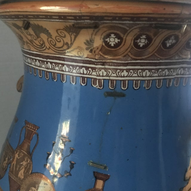 Striking Lusterware Cover Urn For Sale - Image 12 of 13