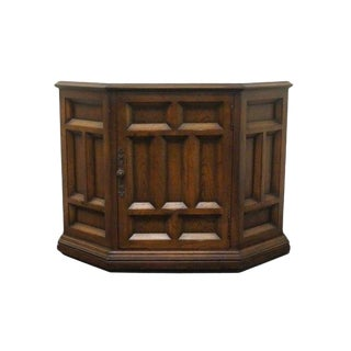 20th Century Traditional Century Furniture Cortez Collection English Oak Style Console Cabinet For Sale