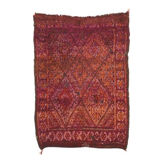 Vintage Beni M'Guild Moroccan Rug - 05'09 X 07'09 For Sale