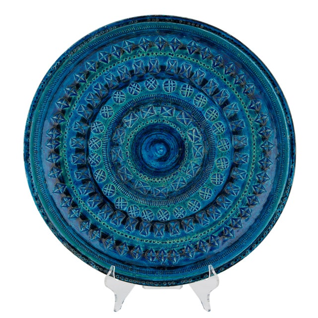 """Rimini Blu"" Ceramic Platter by Aldo Londi for Bitossi, Circa 1960s For Sale - Image 13 of 13"