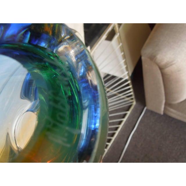 Multi-Color Polish Modern Art Crystal Glass Sculpture For Sale - Image 4 of 6