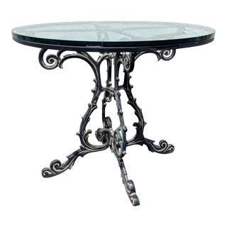 French Art Nouveau Cast Iron Bistro Table For Sale