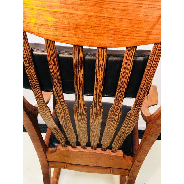 Exceptional and Monumental Rosewood Rocking Chair by Stephen O'Donnell For Sale - Image 4 of 11