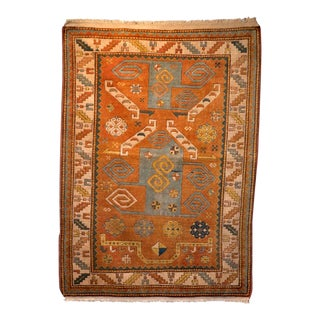 Vintage Mid-Century Persian Rug - 3′8″ × 5′3″ For Sale