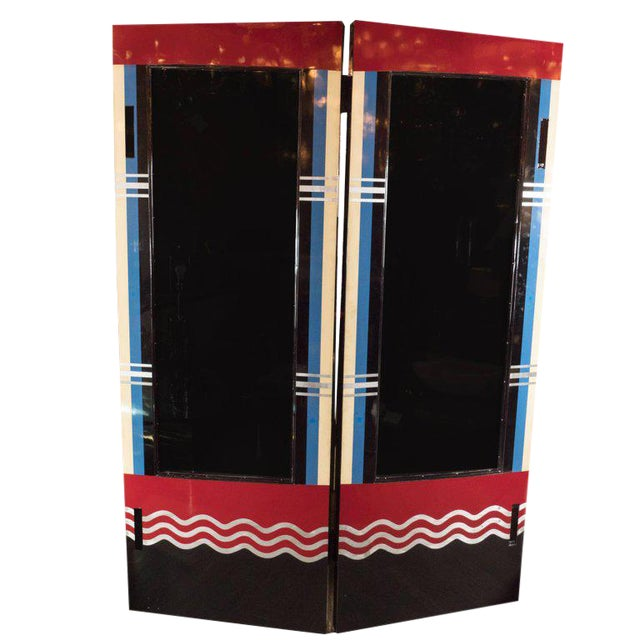 Art Deco Bakelite and Black Lacquer Doors or Theatre Screens by Robert Eberson For Sale
