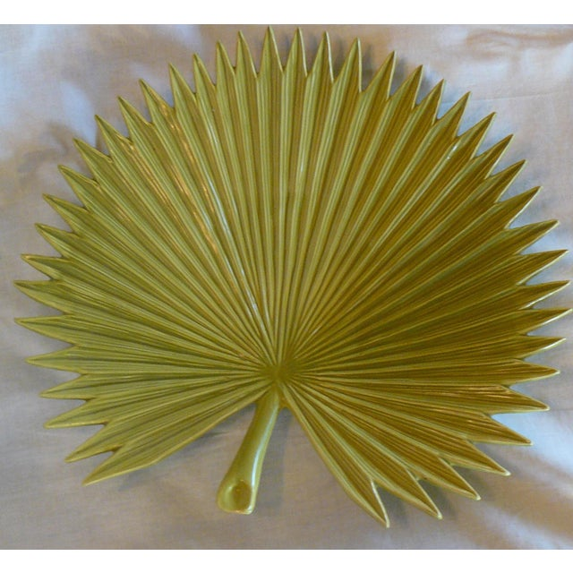 Global Views Palm Leaf Platter With Feet For Sale - Image 6 of 9