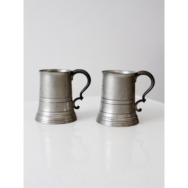 Antique Pewter Glass Bottom Tankards - a Pair For Sale - Image 4 of 13