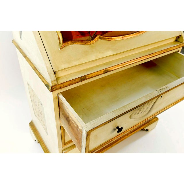 20th Century French Maison Jansen Hand Painted Secretary Desk For Sale - Image 11 of 12