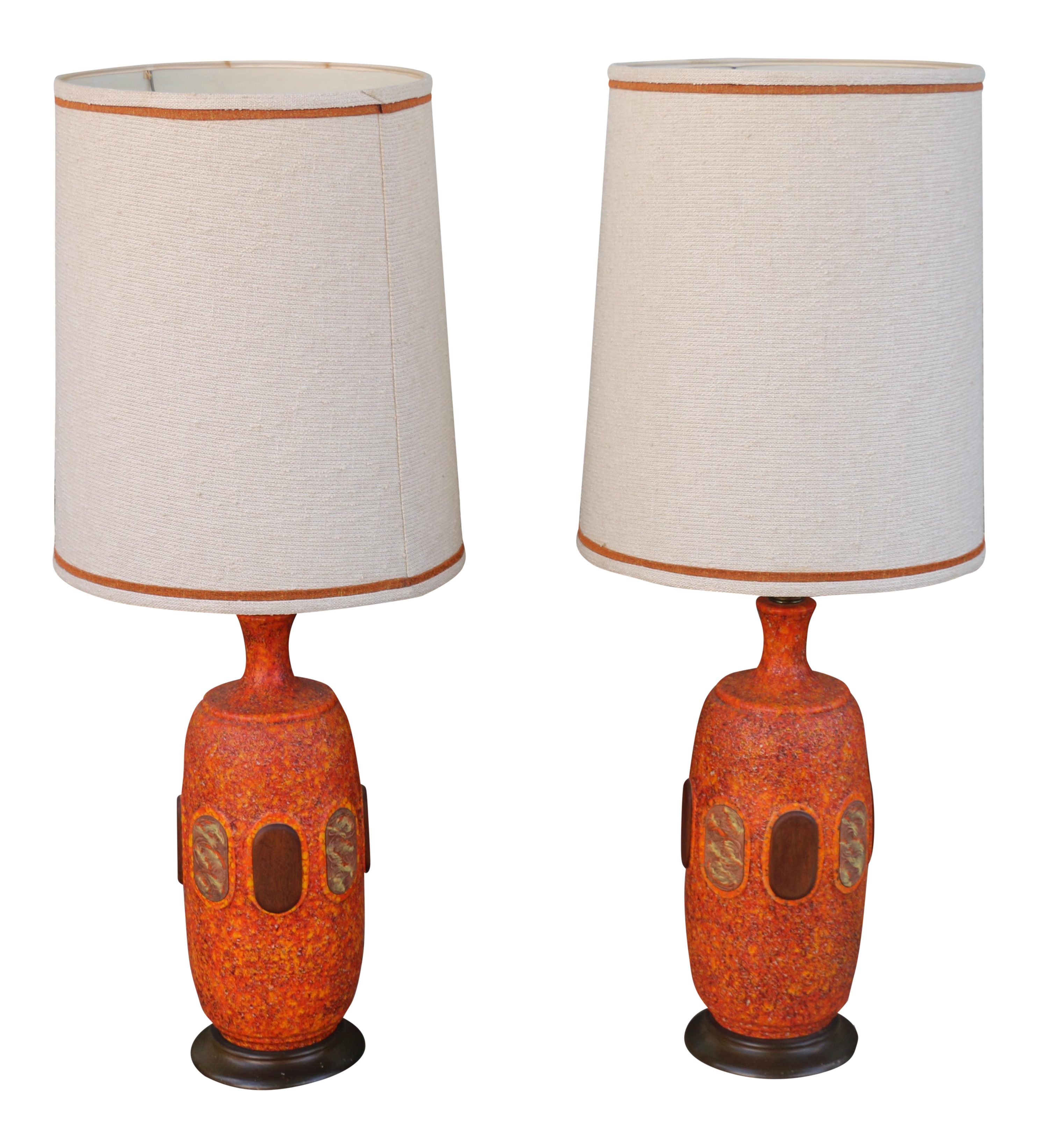 Vintage Ceramic Lamps   A Pair