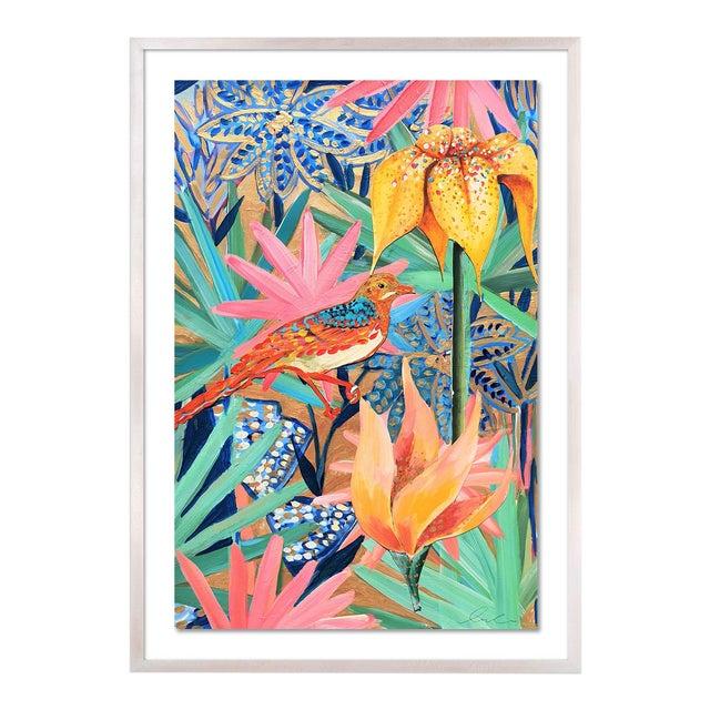 Zanzabar Collage 2 by Lulu DK in White Wash Framed Paper, Medium Art Print For Sale