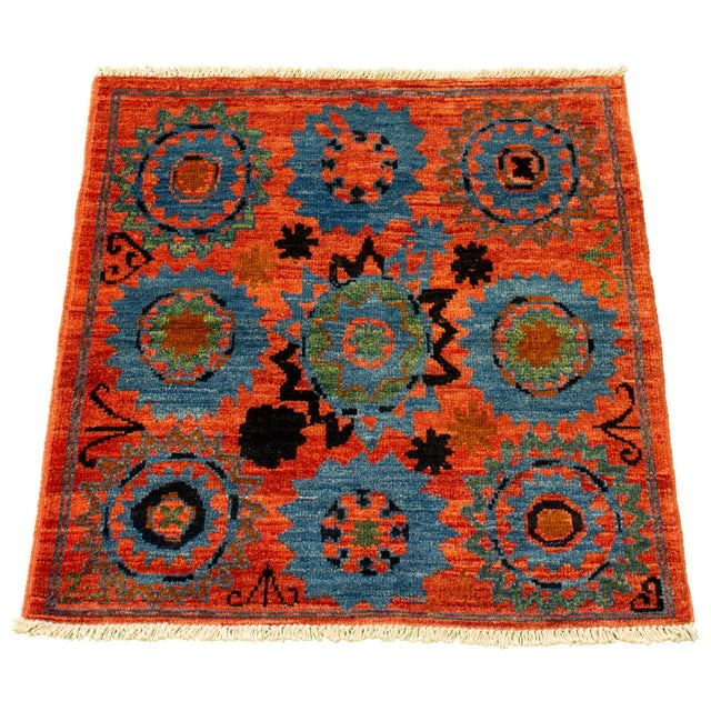 Boho Chic Boho Chic Hand-Knotted Rug For Sale - Image 3 of 9