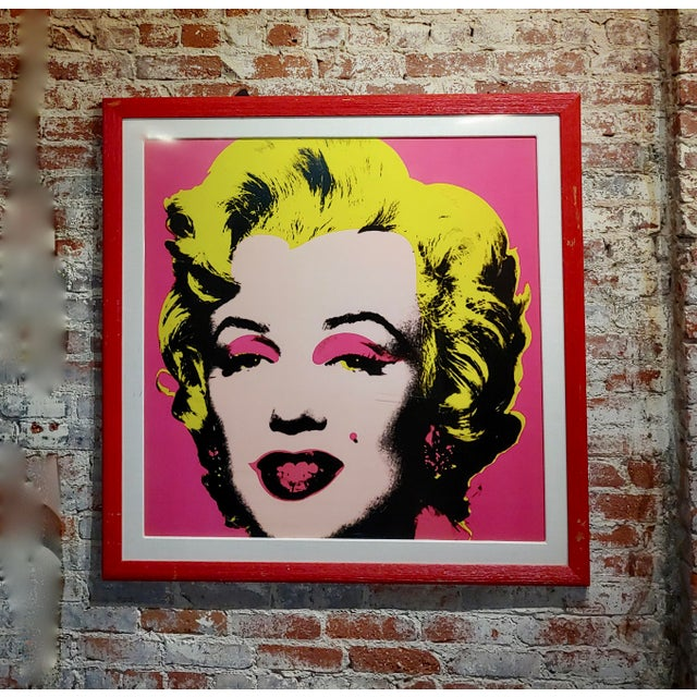 Andy Warhol Marilyn Monroe-beautiful Vintage Screenprint by Sunday B. Morning After Andy Warhol, American 1928-1987-...