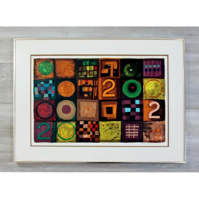 Lithograph Contemporary Modern Framed Lithograph Signed Barbara Oldsheusky 181/300 For Sale - Image 7 of 7