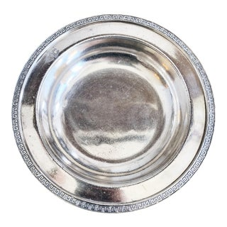 Antique Silver Plated Bowl From Illinois Central Railroad For Sale