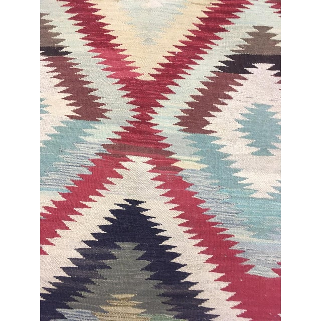 """Traditional Hand Knotted Traditional Design Wool Uzbek Rug. 4'8"""" X 6'5"""" For Sale - Image 3 of 7"""