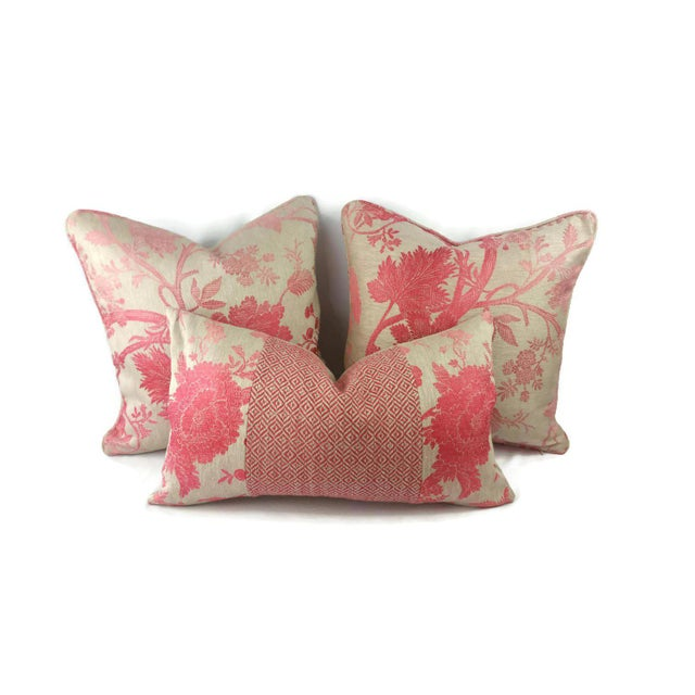 Nina Campbell for Osborne Little Amazonas Self-Welt Backed Casamance Pillow Cover For Sale In Portland, OR - Image 6 of 7