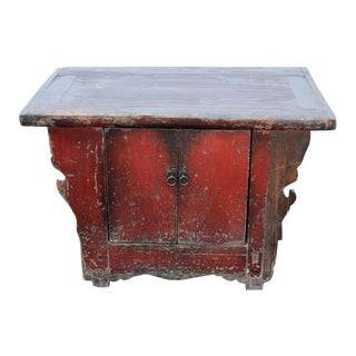 Antique Chinese Wooden 2-Door Cabinet For Sale
