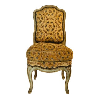 19th Century French Needlepoint Slipper Chair For Sale
