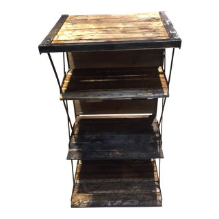 Rustic GringoLoko Welded Shelf Stand For Sale