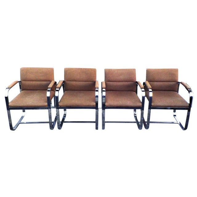 Mid-Century Modern Chrome Chairs - Set of 4 - Image 1 of 7