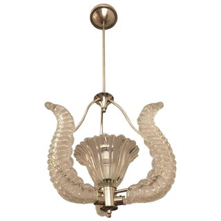 Mid-Century Barovier and Toso Chandelier For Sale