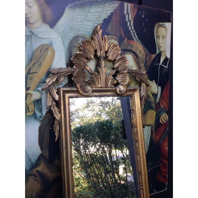 Vintage Gilded Gold Italian Rocco Mirror - Image 5 of 9