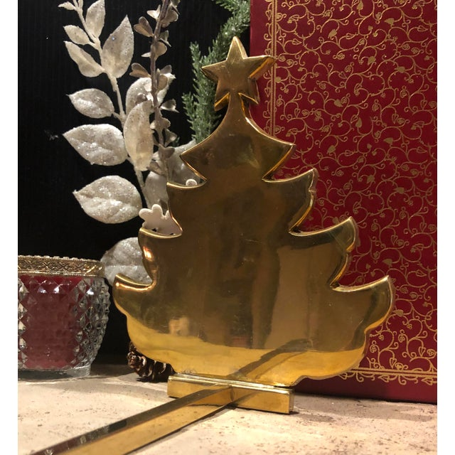 This is for one stocking hanger that is a solid brass Christmas tree. This piece measures approx. : 8.0 long x 6.75 inches...