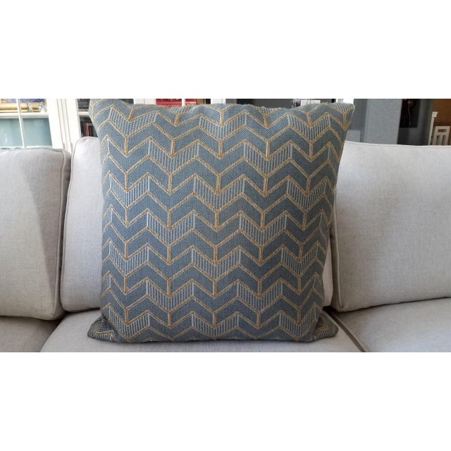Modern Mitchell Gold & Bob Williams Custom Down Pillows - A Pair For Sale - Image 3 of 5