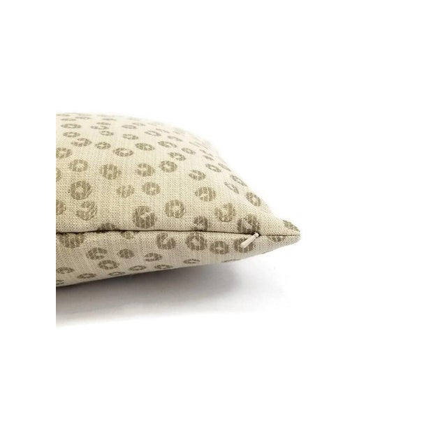 From Lee Industries is Nickels in the color Taupe. This unique pattern features a cream background with taupe circle...