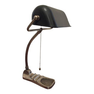 Industrial Banker Lamp, 1930s For Sale