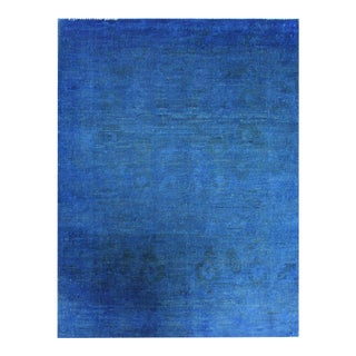 """Hand Knotted Overdyed Oushak Rug by Aara Rugs Inc. - 3'6"""" X 4'11"""" For Sale"""