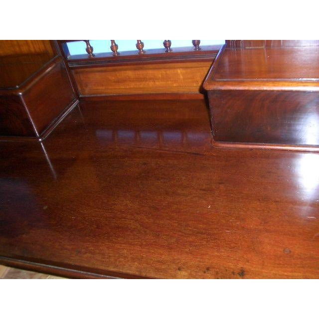 Edwardian Antique English Mahogany Vanity Dressing Table For Sale - Image 3 of 7