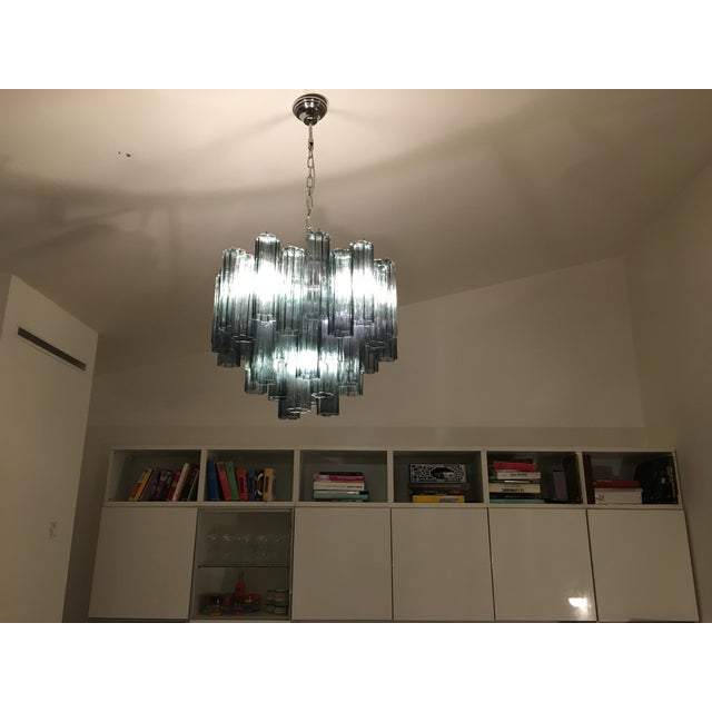 "2010s Contemporary Murano Glass ""Tronchi"" Chandelier For Sale - Image 5 of 9"