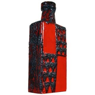 Glazed Lava Vase by Scheurich Keramic For Sale