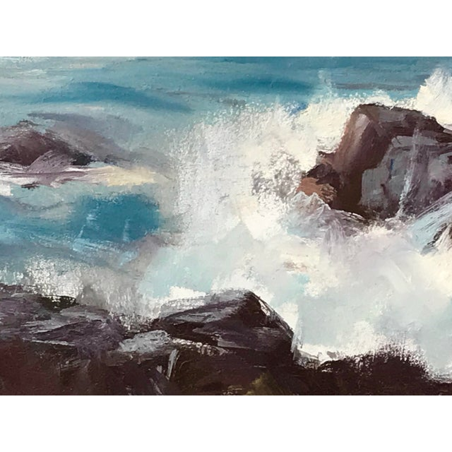 American Vintage American Impressionist Oil Painting Seascape by Harry Barton For Sale - Image 3 of 9