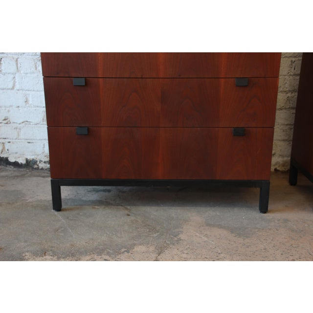 Milo Baughman for Directional Rosewood Highboy Dressers - A Pair For Sale - Image 10 of 11