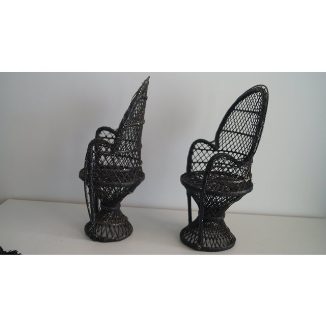 Chippendale 1970's Vintage Mini Bamboo Chair Models - A Pair For Sale - Image 3 of 6