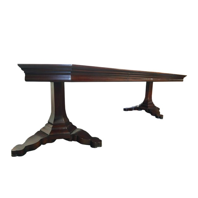 EJ Victor EJ Victor Transitional Double Pedestal Dining Table For Sale - Image 4 of 11