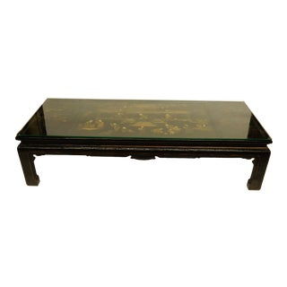 Lacquered Chinoiserie Coffee Table For Sale