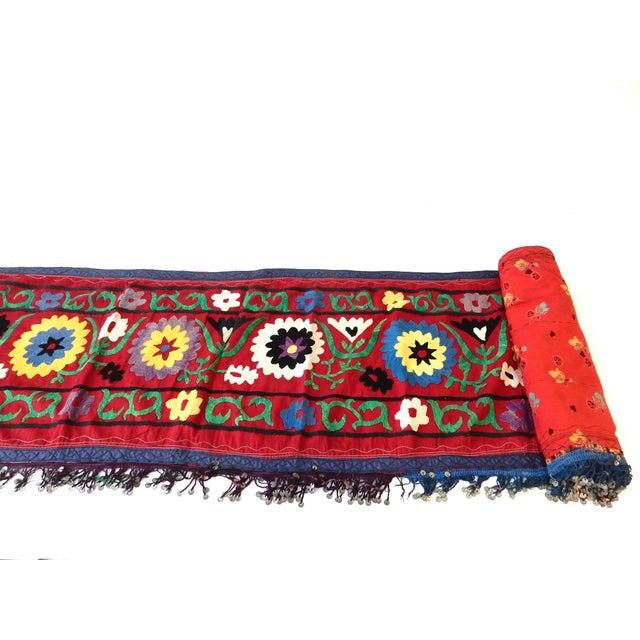 Vintage Uzbek Suzani Runner For Sale - Image 7 of 8