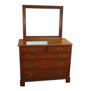 Henkel Harris Solid Cherry Dresser With Mirror For Sale