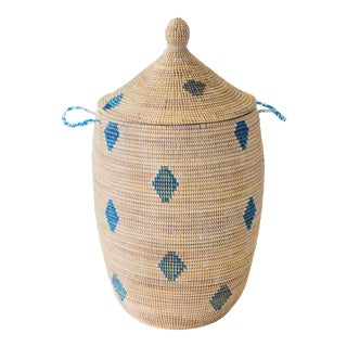 Griot Basket With Dot Pattern For Sale