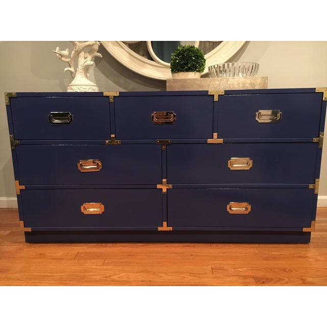 1970s Bernhardt Campaign Dresser For Sale In New York - Image 6 of 7