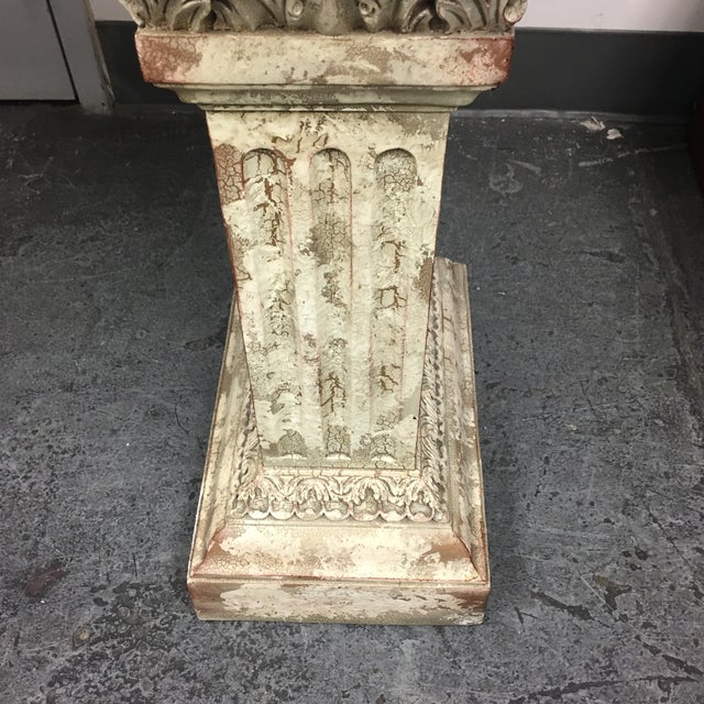 Console Table with Black Marble Top & Column Base - Image 6 of 8