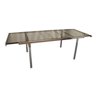 Mid-Century Modern Milo Baughman Dia Chrome Extension Dining Table