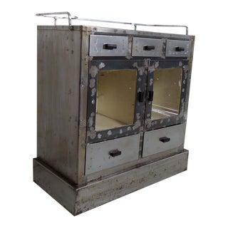 Metal Vintage Industrial Cabinet For Sale