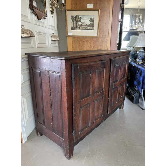 Antique Rustic French Country Louis XIV Hardwood Two Door Storage Cupboard. Sturdy and solid with two removable doors as...