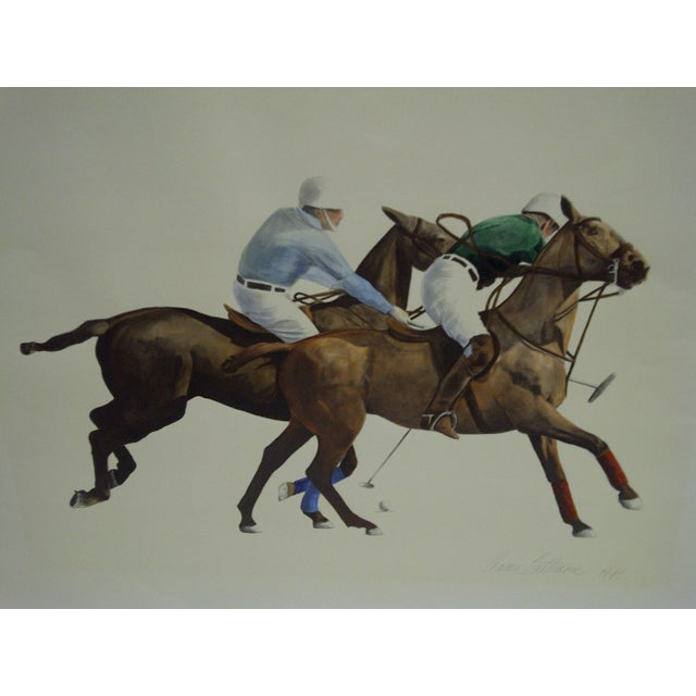 """American Original Signed Print """"Polo"""" by Anne Lattimore For Sale - Image 3 of 4"""