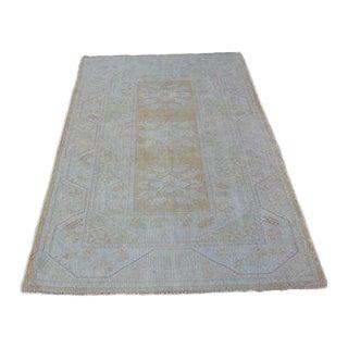 1960s Vintage Turkish Tribal Wool Rug - 3′11″ × 6′5″ For Sale