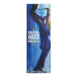 2005 Festival International De Jazz Montreal (Blue Saxophone) Poster
